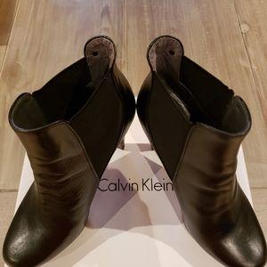 Women's Fashion Black Celvin Klein Ankle Boots